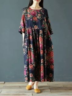 Loose Dresses, Linen Dresses, Cotton Dresses, Day Dresses, Stylish Dresses For Girls, Casual Dresses, Fashion Dresses, Sleeves Designs For Dresses, Summer Dress Outfits