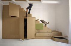 Almacenamiento de la escalera en pinterest for Soluciones bajo escalera