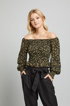 Don't wait to update your look with the latest fashions in women's tops. Create your account today and get the innovative fashion from one of the leading names in women's fashion. Shoulder Cut, Off Shoulder Tops, Off Shoulder Blouse, Womens Size Chart, S Models, Womens Fashion, How To Wear, Women's Fashion, Woman Fashion