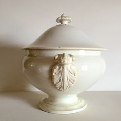 Elegant Antique French White Ironstone Tureen with Lid - Shabby Chic Tea Stained Ironstone - J.V. & Co Bordeaux by LaVieEnPastis on Etsy https://www.etsy.com/listing/229522232/elegant-antique-french-white-ironstone