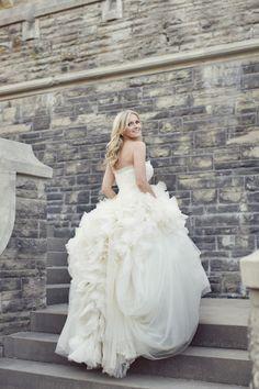 This dress is stunning: http://www.stylemepretty.com/canada-weddings/ontario/toronto/2013/12/19/casa-loma-wedding/ | Photography: Sarah Kate - http://sarahkatephoto.com/