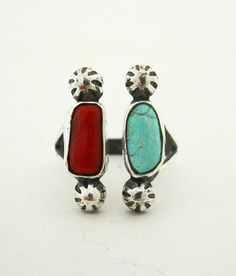rejoicethehands:    the Herrero Ring in Coral & Turquoise