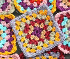 Grandma's mohair yarn squares