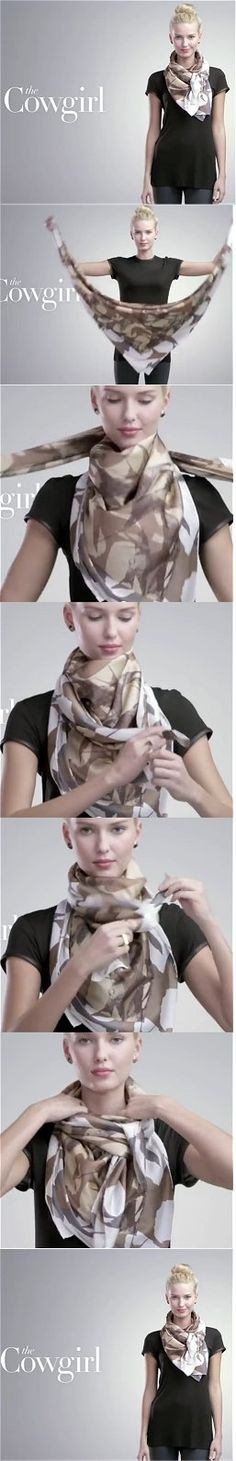 Nordstrom Cowgirl Scarf Tutorial You Tube