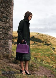 My Heart's in the Highlands – The November issue of SnC Magazine highlights the fall-winter collection of Louis Vuitton in a rustic fashion feature. Photographed by Nikolay Biryukov and styled by Baryshnikov Mikael, model Lucie von Alten heads to the Scottish countryside wearing the luxe coats and lingerie-inspired dresses from the fashion label. Beauty artist Marina Keri makes sure Lucie's hair and makeup looks perfectly glam in the outdoor shots.