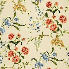 Schumacher Martine Floral Vine Honey Fabric