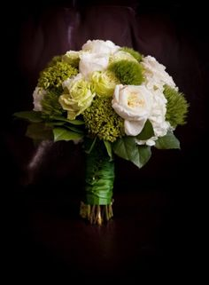 Green Wedding Flowers. LOVE THE COLORS, MAYBE JUST A LITTLE LESS BROCOLI LIKE.