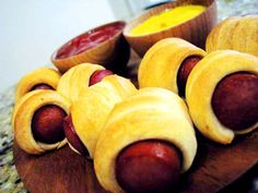 """""""Pigs"""" in a Blanket - Quick & Easy Appetizer  (these are ALWAYS the favorite!!)"""