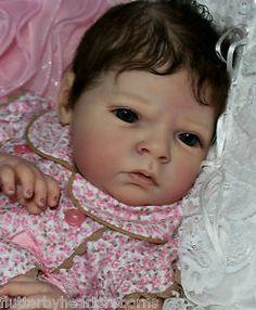 flutterby hearts reborns Tamara auty brown hair baby reborn fake girl beautiful Sabrina reva schick