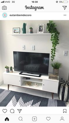 17 Trendy home sala branco Living Room Tv, Interior Design Living Room, Living Room Designs, Living Room Inspiration, Home Decor Inspiration, Tv Stand Ideas For Living Room, Trendy Home, Home Office Design, Bedroom Decor