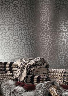 Ricchetti Giaguaro Mask - Love the faux leopard spots, stylized. | Cersaie 2013