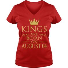 Kings are born on August 04 T-Shirt #gift #ideas #Popular #Everything #Videos #Shop #Animals #pets #Architecture #Art #Cars #motorcycles #Celebrities #DIY #crafts #Design #Education #Entertainment #Food #drink #Gardening #Geek #Hair #beauty #Health #fitness #History #Holidays #events #Home decor #Humor #Illustrations #posters #Kids #parenting #Men #Outdoors #Photography #Products #Quotes #Science #nature #Sports #Tattoos #Technology #Travel #Weddings #Women