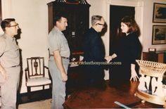 Jackie saying goodbye to White House staff, December 6, 1963.  (www.carlanthonyonline.com)