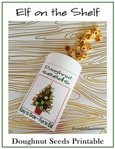 Excellent Photos Elf on the Shelf Printable Doughnut Seeds - Printables 4 Mom Popular I know, it's still November, but I've already got the Christmas music playing and the kids are Christmas Activities, Christmas Printables, Christmas Traditions, Christmas Music, Christmas Elf, Christmas Crafts, Elf On The Shelf, The Elf, Album Design