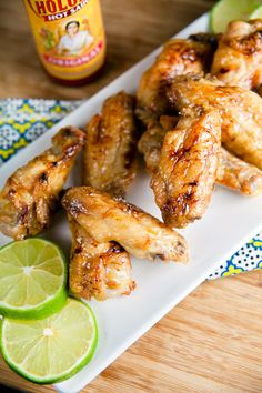 Crispy baked chicken wings with a margarita glaze and a smattering of salt are the perfect for parties or just a great way to perk up a weeknight dinner. Crispy Baked Chicken, Baked Chicken Wings, Chicken Wing Recipes, Sriracha Chicken, Margarita Chicken, Magarita, Cooking Recipes, Healthy Recipes, Appetizer Recipes