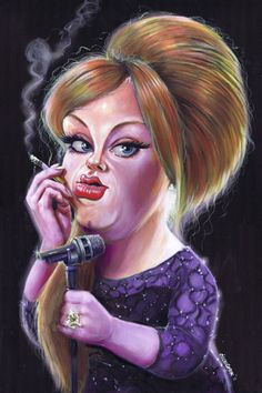 Adele ...Niall O'Loughlin is famous in Ireland for his Caricatures