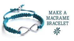 Make a knotted macrame friendship bracelet - jewelry making tutorial on How To Make Friendship Bracelets! #makingbracelets
