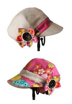 Casquette, chapeau, bob, enfant, réversible en lin / coton : Mode filles par barnabouille