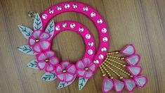 Home Decor Ideas - How To Make Beautiful Door/Wall Hanging - Best reuse ideas - DIY arts and crafts Door Hanging Decorations, Wall Hanging Crafts, Diy Wall Art, Diy Arts And Crafts, Crafts To Do, Diy Diwali Gifts, Diy Lace Ribbon Flowers, Craft From Waste Material, Quirky Decor