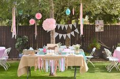 Horse, Burlap, Pony, Floral, Pink, Teal, cowgirl, third, shabby chic Birthday Party Ideas   Photo 1 of 39