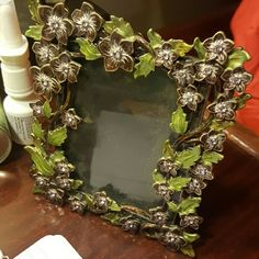 Two's Company flower and rhinestone picture frame Two's Company flower and rhinestone picture frame. Very lovely!!! Other
