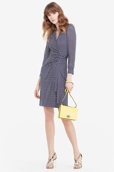 Two Chiffon and Silk Combo Wrap Dress | Landing Pages by DVF