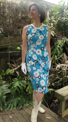 Butterick 2137, #vpp1  Fabulous 60s fabric!