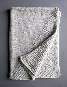 Cozy Corners - free baby blanket knitting patterns