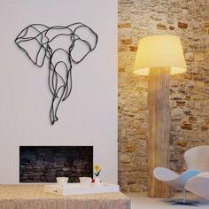 Elephant Trophy sustainable wood wall sign | Hu2.com