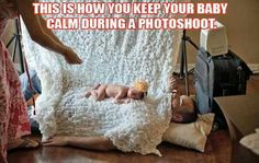Infant photography ingenious ideas