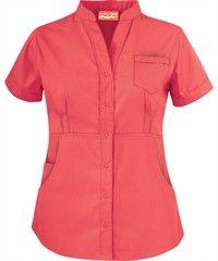 Butter-Soft Scrubs by UA™ Women's Solid Mandarin Collar Snap Front Top