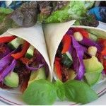 Cabbage & Chickpea Wraps With Avocado & Sundried Tomatoes #vegetarian #easy #healthy http://yummytastykitchen.com/cabbage-chickpea-wraps-with-avocado-sundried-tomatoes/