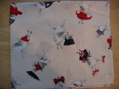 Pig Fabric by the Yard | Flying Pig Fabric, 1 Yard Olivia the pig fabric