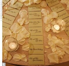 wedding place card table ideas - Google Search