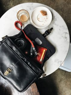 The Bowery bag in full-grain black leather. The Black Leather Collection by ONA bags | Premium camera bags and accessories, handcrafted from the finest materials.