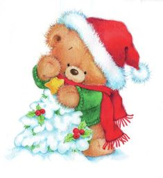 23 Clever DIY Christmas Decoration Ideas By Crafty Panda Christmas Teddy Bear, Noel Christmas, Christmas Animals, Christmas Wishes, Christmas Pictures, All Things Christmas, Winter Christmas, Vintage Christmas, Christmas Crafts