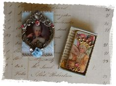 Marie Antoinette matchbox altered domino Over the Rainebeau