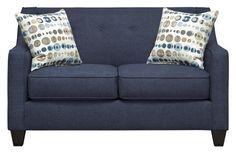 Axis Navy Loveseat - Art Van Furniture