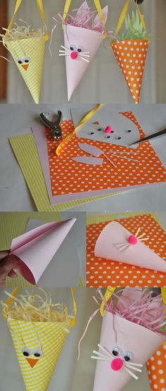 Arts And Crafts Videos Product Easter Arts And Crafts, Paper Crafts For Kids, Easy Crafts, Diy And Crafts, Art And Craft Videos, Art N Craft, Diy Ostern, Light Crafts, Easter Activities