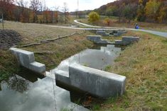 Bioswale step pools. Watershed Stewardship Center, OH.