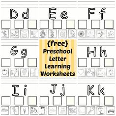 Full alphabet free printable letter learning worksheets