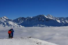 Sometimes you just have to stop skiing and take the time to look at the beauty of the Lenzerheide valley. Swiss Alps, Ski And Snowboard, Winter Is Coming, Switzerland, Mount Everest, Skiing, Powder, Mountains, Travel