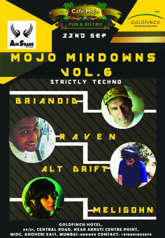MojoMixdowns Vol 6 . Let's groove into the Deep tech mix blended by Djs this Thursday & dance the night away. Feat. Brianoid, Raven, Alt Drift, Meligohn. CafeMojo Mumbai #PartyinMumbai #Pubs #Party #Beer #Fun #Beers #Enjoy #GoodTimes #OntheBar  #Parties #PartyMusic #DrinkLocal #Music #Dance #Pub #Drinks #EatLocal  #BeerDrinks #Mumbai  #OnthePub.