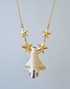 To Infinity! Space Shuttle Necklace — Eclectic Eccentricity Vintage Jewellery