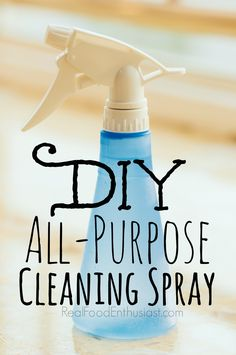 This homemade all-purpose cleaner is effective, easy to make, non-toxic, and much less expensive than the green cleaners at the store! #diy #springcleaning