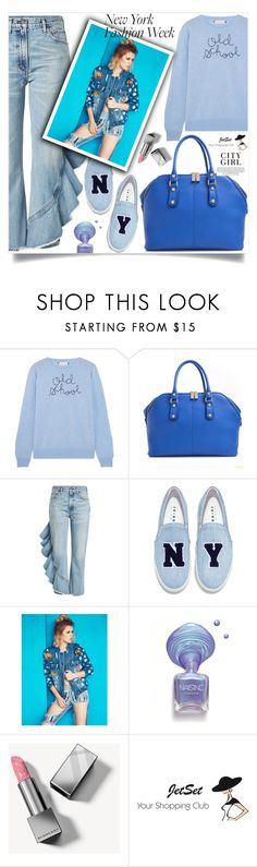 """What to Wear to NYFW"" by samra-bv ❤ liked on Polyvore featuring Lingua Franca, Carbotti, Citizens of Humanity, Joshua's and Burberry"