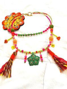 SALE GYPSY'S WEDDING Necklace Bohemian Necklace Tribal by Nezihe1