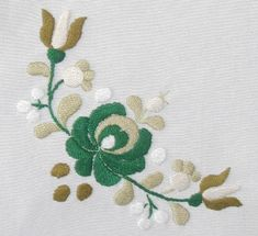 Hungarian Matyo folk art embroidery stamped by lmntlcrafts on Etsy, $20.00