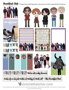 Free Printable The Breakfast Club Planner Stickers   Victoria Thatcher