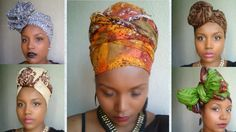 Headwrap tutorial / Attaché de foulard, lesso, turban The last one though. Turban Tutorial, Hijab Tutorial, Head Wrap Tutorial, Hair Wrap Scarf, Head Scarf Styles, African Head Wraps, Turban Style, Scarf Hairstyles, African Fashion